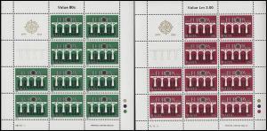 Malta 704-705 Europa Brücken, Kleinbogen-Satz **