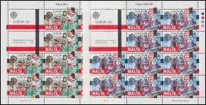 Malta 661-662 Europa Historische Ereignisse, Kleinbogen-Satz **