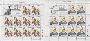Malta 628-629 Europa Folklore, Kleinbogen-Satz **