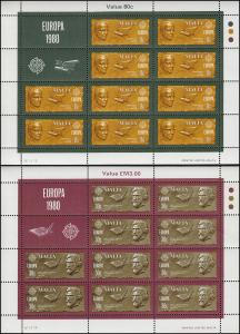 Malta 615-616 Europa Bedeutende Persönlichkeiten, Kleinbogen-Satz **