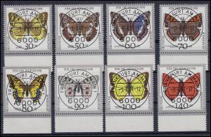 1512-1519 Schmetterlinge als Unterrand-Satz mit VS-Ersttagsstempel Frankfurt