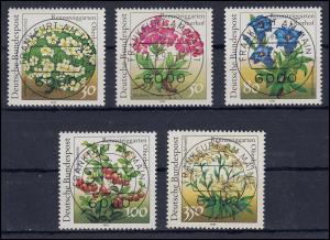 1505-1509 Rennsteiggarten als Satz mit VS-ET-Vollstempel Frankfurt 12.3.1991