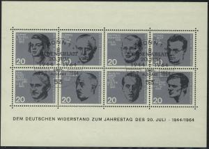 Block 3 Widerstand 20. Juli 1944, mit ESSt Bonn 20.7.1964, geprüft SCHLEGEL BPP