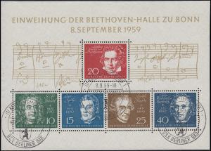 Block 2 Beethovenhalle ESSt BERLIN-TEMPELHOF BSV Berliner Bär 8.9.59 geprüft BPP