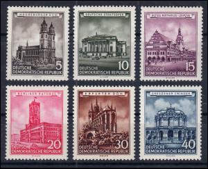 491-496 Historische Bauwerke, kompletter postfrischer Satz, 6 Werte **