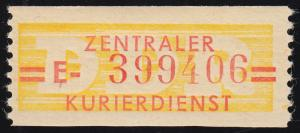 17-E-Neudruck Dienst-B, Billet mit hoher Nummer 399406 **