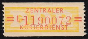 17-L-Neudruck Dienst-B, Billet mit hoher Nummer 1190072 **