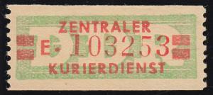 31aI-E Dienst-B, ZKD-Billet für Cottbus, rückseitig Fingerspur *
