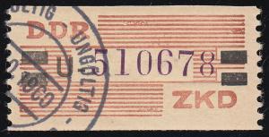29-U-Neudruck Dienst-B, Billet violett und schwarz auf orange, O UNGÜLTIG