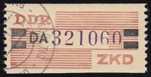 29-DA-Neudruck Dienst-B, Billet violett und schwarz auf orange, O UNGÜLTIG