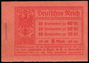 MH 14.2A Germania 1921, ohne Nummer, HBl. durchgezähnt, Luxus ungefaltet, **