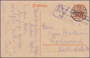 Zensur Postgebiet Oberbefehl Ost Postkarte P 2 von LIBAU 24.1.18 nach Dortmund