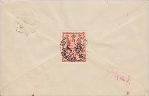 Deutsche Post in Polen 2 Germania auf Brief WARSCHAU - mit Stadtpostmarke 2