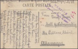 Kriegsgefangenenpost Algerien nach Deutschland VERIFIE ... DEPOT SETIF 25.7.1915