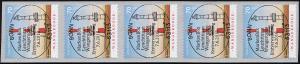 3396 Leuchtturm Wangerooge selbstkl. 5er-Streifen UNGERADE Nummer, EV-O Bonn