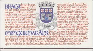 Portugal-Markenheftchen 1688 BuS Kastell Guimaraes, ESSt 10.4.86
