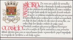 Portugal-Markenheftchen 1721 BuS Kastell Leiria, postfrisch