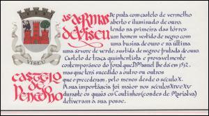 Portugal-Markenheftchen 1758 BuS Kastell Penedono, ESSt 1.7.88