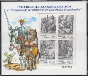 Spanien Block 144 Don Quijote 2005, postfrisch ** - im Folder