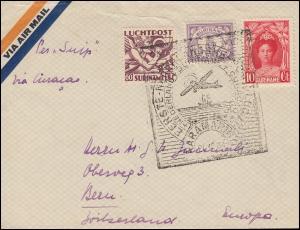 SNIP-KLM-Erstflug Suriname-Curacao Brief PARAMARIBO 21.12.1934 nach Bern/Schweiz
