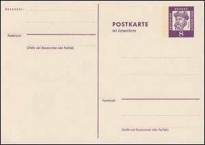 P 59 - Gutenberg 8/8 Pf Grotesk - weiss **