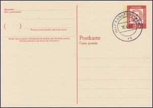 P 52 - Bach 20 Pf Antiqua, postfrisch, VS-O Frankfurt / Main
