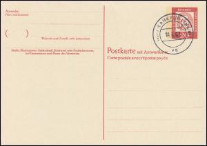 P 55 - Bach 20/20 Pf Antiqua, VS-O Frankfurt / Main