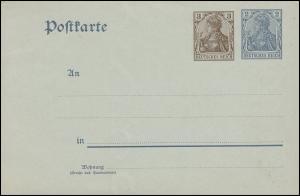 P 70X Germania 3+2 Pf. auf P 63 mit Wz.2, ** wie verausgabt
