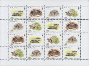 2046-2029 WWF Weltweiter Naturschutz Griechische Landschildkröte, Kleinbogen **
