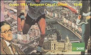 Irland-Markenheftchen 17 Dublin 1991 - Kulturstadt Europas, ** postfrisch
