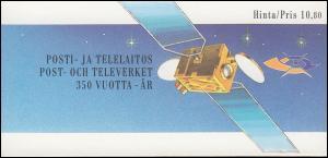 Finnland Markenheftchen 23 Post- und Fernmeldewesen, ESSt Helsinki 6.9.1988