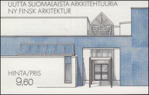 Finnland Markenheftchen 17 Architektur: Moderne Gebäude, ** postfrisch