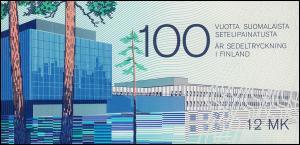 Finnland Markenheftchen 15 Banknotendruckerei, ** postfrisch