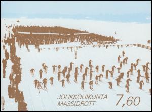 Finnland Markenheftchen 24 Breitensport, ** postfrisch
