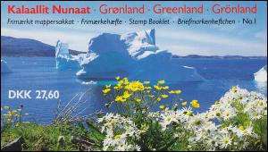 Grönland Markenheftchen 1 Königin Margrethe 1989, ** postfrisch