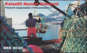 Grönland Markenheftchen 3 Königin Margrethe und Krabben 1993, ** postfrisch