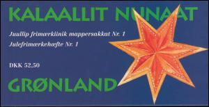 Grönland Markenheftchen 5 Weihnachten 1996, ** postfrisch