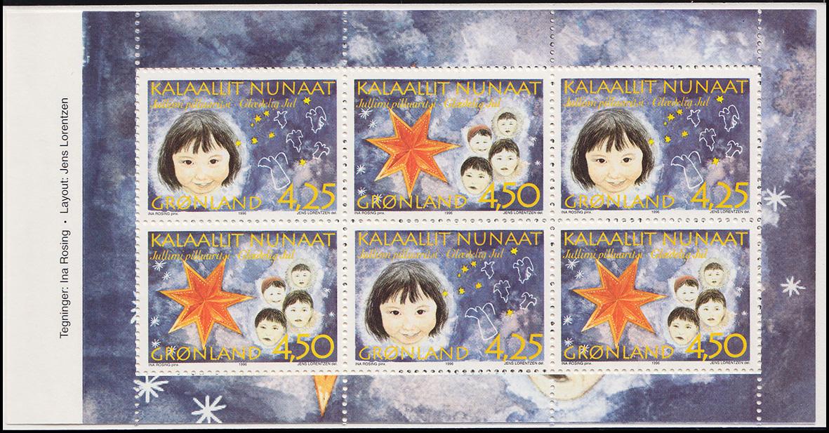 Grönland Markenheftchen 5 Weihnachten 1996, ** postfrisch 1