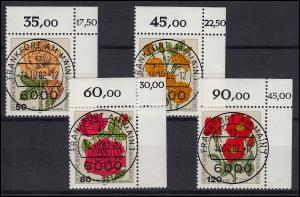 1150-1153 Wofa Gartenrosen, 4 Werte komplett - Satz mit KBWZ O FfM