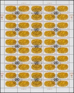 UNO New York 546 UNO-Emblem aus Getreideähren, 50er-Bogen, ET-O 29.1.88