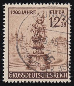 886II Fulda 1944 mit PLF II oben gebrochenes S, Feld 11, MÜNCHEN 29.3.45