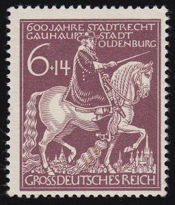 907III Oldenburg mit PLF III Strich oben am Ende der 6, Feld 5, **