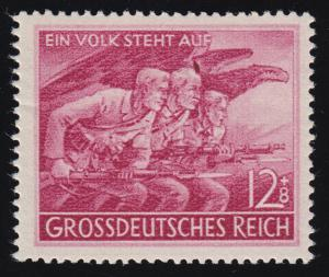 908VI Volkssturm 1945 mit PLF VI Fleck über mittlerem Kopf, Feld 46, **