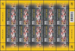 658 Weltausstellung EXPO 2010 Schanghai - Kleinbogen ** postfrisch