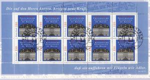 2011 Franckesche Stiftung - 10er-Bogen auf Kartonvorlage, ESST
