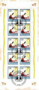 2062 SOS-Kinderdorf - 10er-Bogen auf Kartonvorlage, ESST