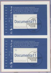 Block 58 dokumenta Kassel - zwei Blöcke auf Kartonvorlage, ESST