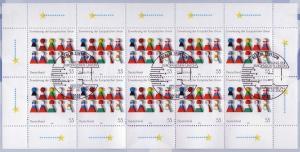 2400 Erweiterung Europäische Union - 10er-Bogen auf Kartonvorlage, ESST