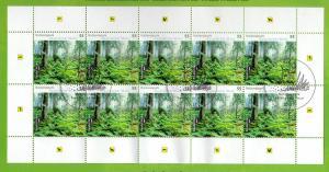 2452 Nationalpark Naturpark Bayerischer Wald - 10er-Bogen auf Kartonvorlage ESST
