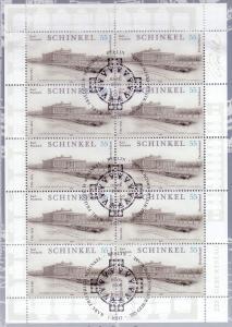 2527 Baumeister Karl Friedrich Schinkel - 10er-Bogen auf Kartonvorlage, ESST